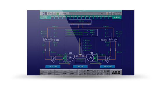 ABB PROCESS OPERATOR STATION (POS) 30ABB POS 30 HMI screenshot from SimGenics