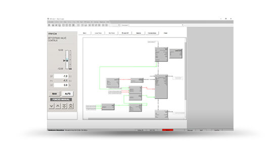 HONEYWELL EXPERIONLogic View in Automatically Translated Honeywell Experion HMI Emulation Running on SimuPACT
